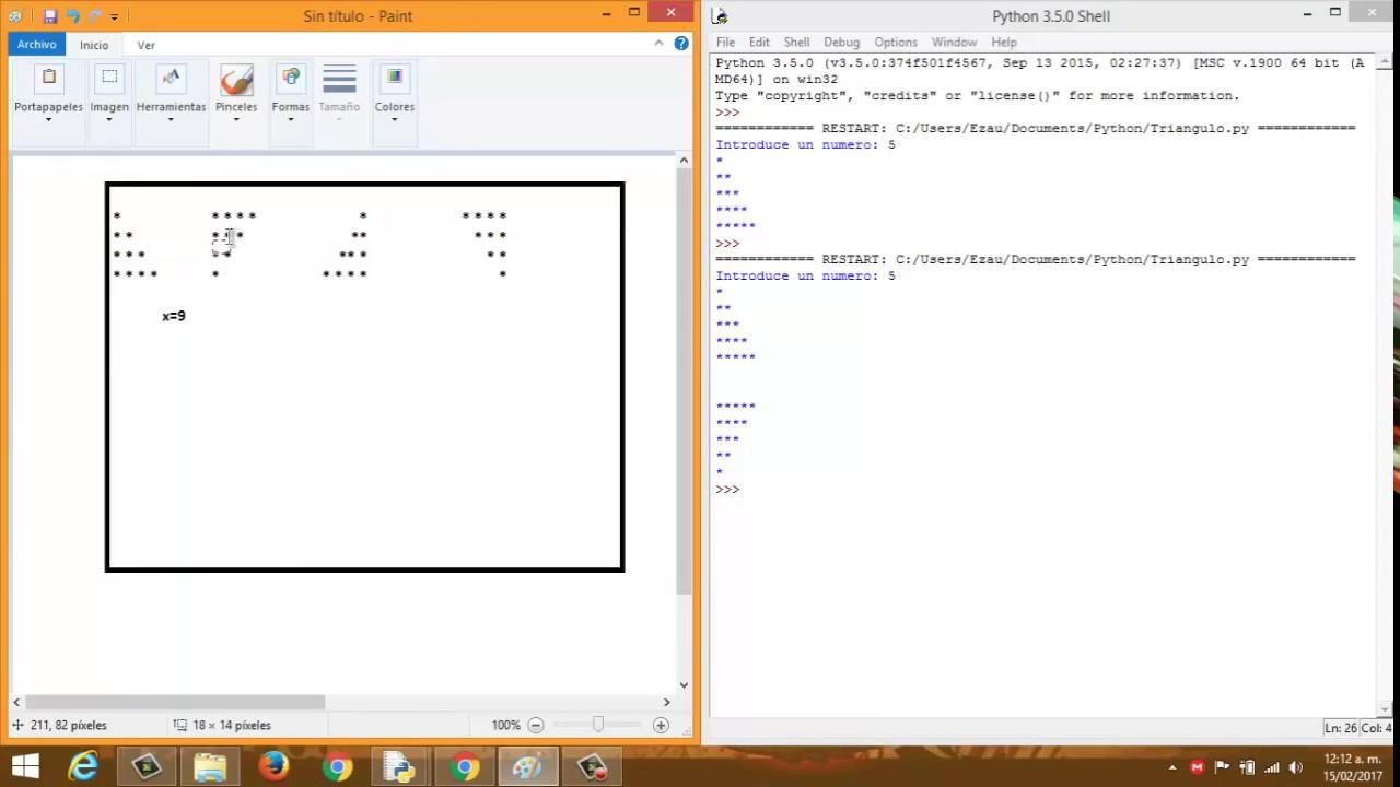 Como dibujar Triangulos Rectangulos en Python 35  YouTube