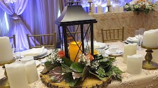 Lantern Table Centrepiece With Fresh Flowers DIY