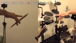 Mink Stick Spin:A (轉鼓棒慢動作解析)