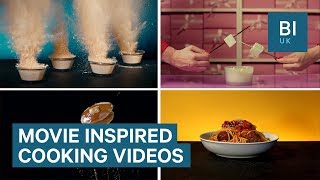 Food artist makes videos in the styles of Hollywood directors