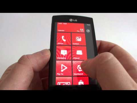 LG Swift/Optimus 7 LG-E900 hands on - Windows Phone 7