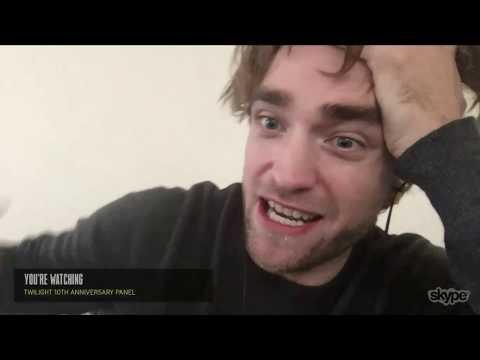 Robert Pattinson takes part to the Twilight 10th Anniversary Panel at NYCC via Skype