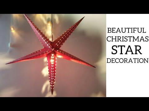 DIY HOW TO MAKE STAR LANTERN KANDIL || ROOM DECOR IDEAS FOR CHRISTMAS|| HOW TO MAKE CHRISTMAS STAR