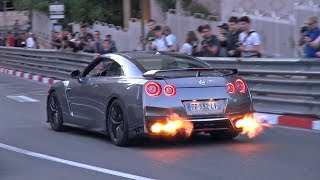 BEST OF NISSAN GT-R R35 in MONACO! 🔥 Accelerations & Flames!