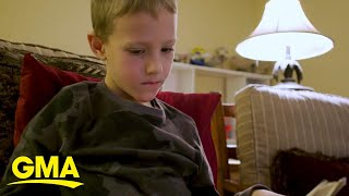 Little boy reads a poem to his grandmother over FaceTime l GMA Digital