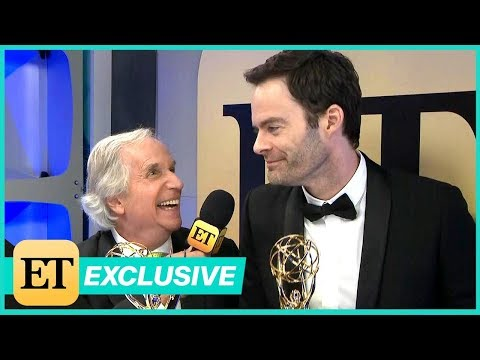 Watch Bill Hader Adorably Crash Henry Winkler's Backstage  Exclusive