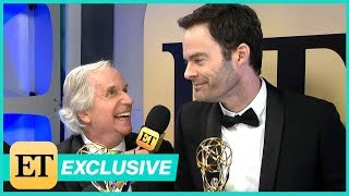 Watch Bill Hader Adorably Crash Henry Winkler's Backstage Interview (Exclusive)