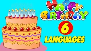 Download Happy Birthday in 6 Different Languages | Happy Birthday To You | Happy Birthday Songs MP3 song and Music Video