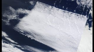 Chemtrails, Square Clouds, HAARP Waves caught on Satellite Imagery
