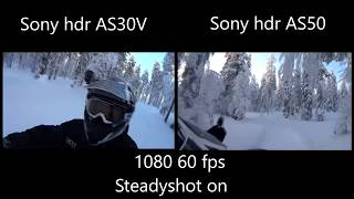 sony hdr AS30V vs Sony hdr AS50