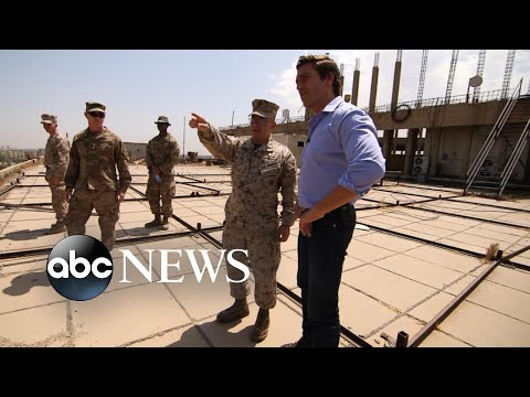 Embedding with US military leaders combating ISIS on Syrian border in Iraq I Nightline