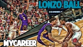 LONZO TALKING TRASH TO WHOLE TEAM - NBA 2K17 LONZO BALL MyCareer