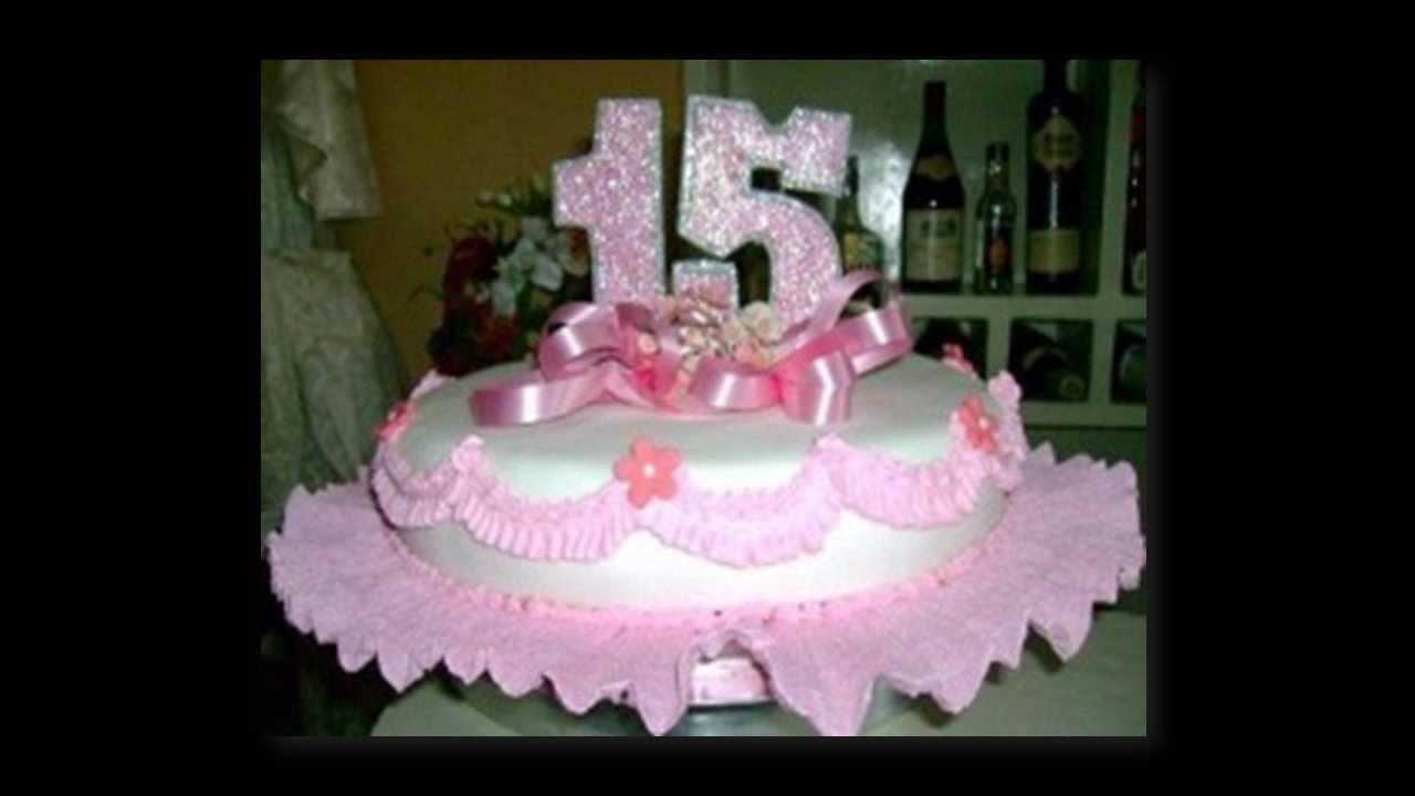 Tortas con flores tortas para 15 a os con flores youtube for Decoracion de tortas sencillas