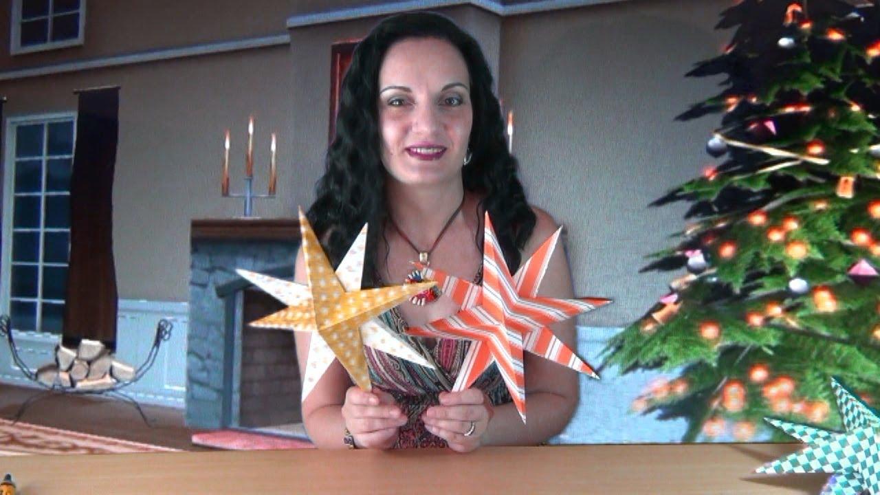 звезда из бумаги объемная схема из картона