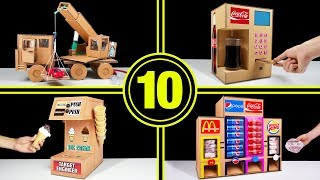 TOP 10 Amazing Things You Can Do at Home from Cardboard