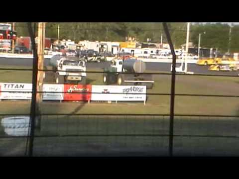 Norman Co Raceway 6 26 14 Dustin Bluhm Wreck