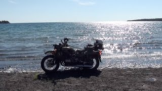 Off-road on Manitoulin Island with a Ural Gear Up