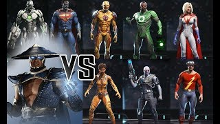 RAIDEN VS PREMIERE SKINS - All UNIQUE Intro Dialogues | INJUSTICE 2