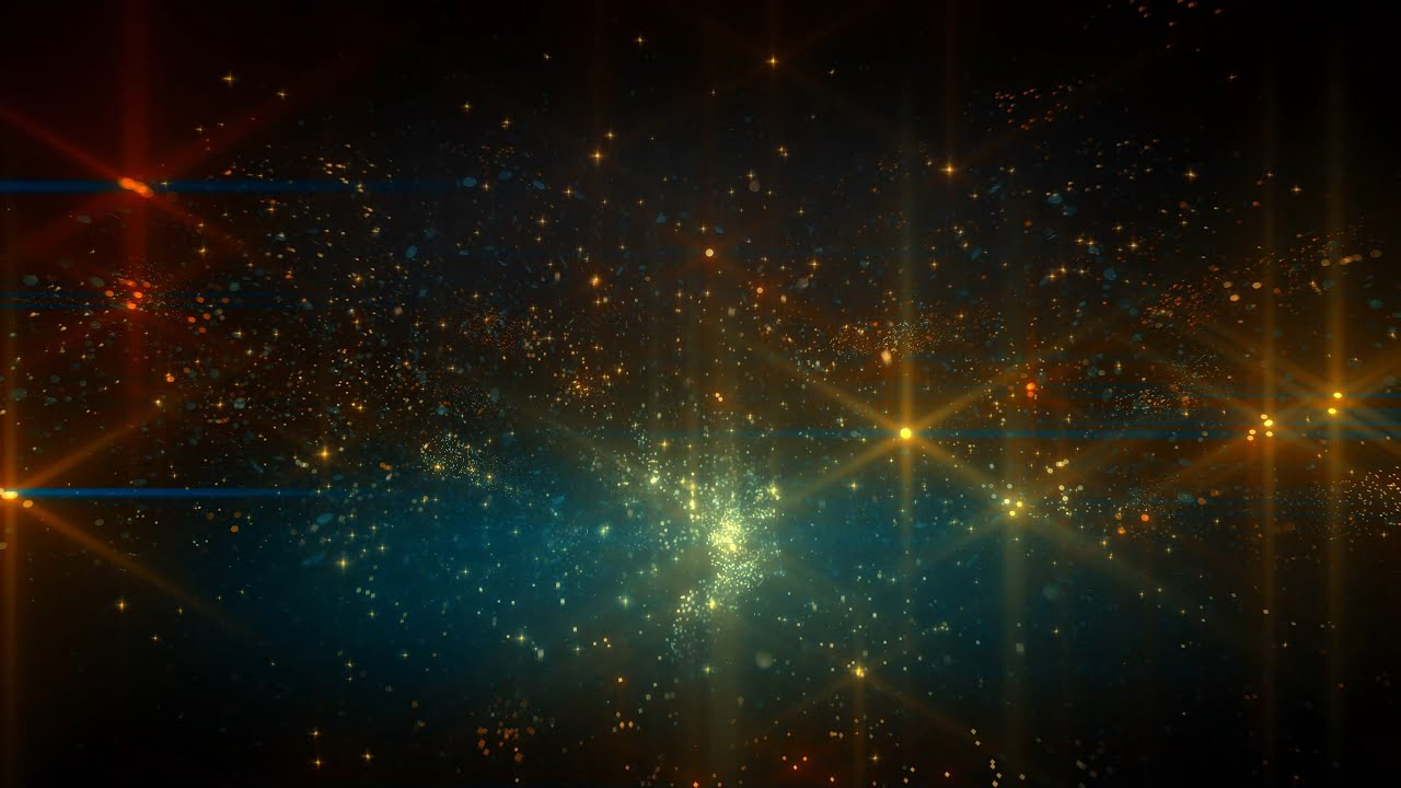 4k Golden Blue Space Stars Moving Background Aavfx Relaxing