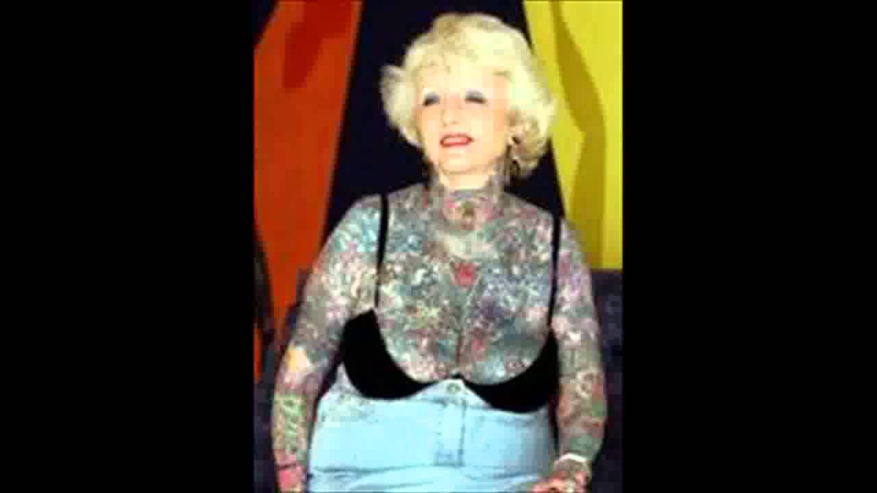 6f75b94d3 Isobel Varley World's most tattooed female senior citizen dies aged 77 -  YouTube
