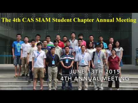 Chinese Academy of Sciences SIAM Student Chapter- AN17