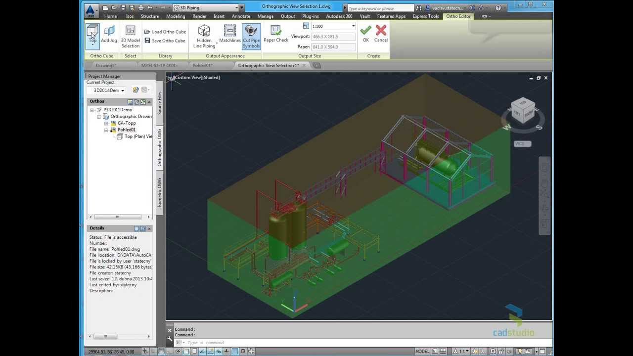 autodesk autocad plant 3d 2014 orthographic drawing youtube rh youtube com AutoCAD Background autodesk autocad map 3d 2014 tutorial