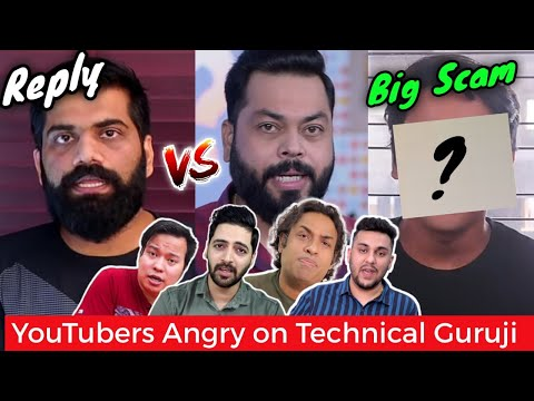 Tech YouTubers Angry on Technical Guruji- REPLY!…Scam with a YouTuber, Triggered Insaan, Mortal