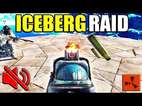 Rust ICEBERG SILENT RAID - *NEW* Electric TURRET TRAP base? - PvP Raiding RICH Clan (Rust Raids PvP)