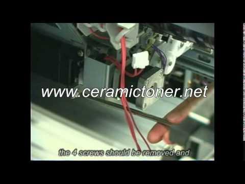 Ceramic Toner- Canon imagePRESS C1 Transfer Unit Ausbau
