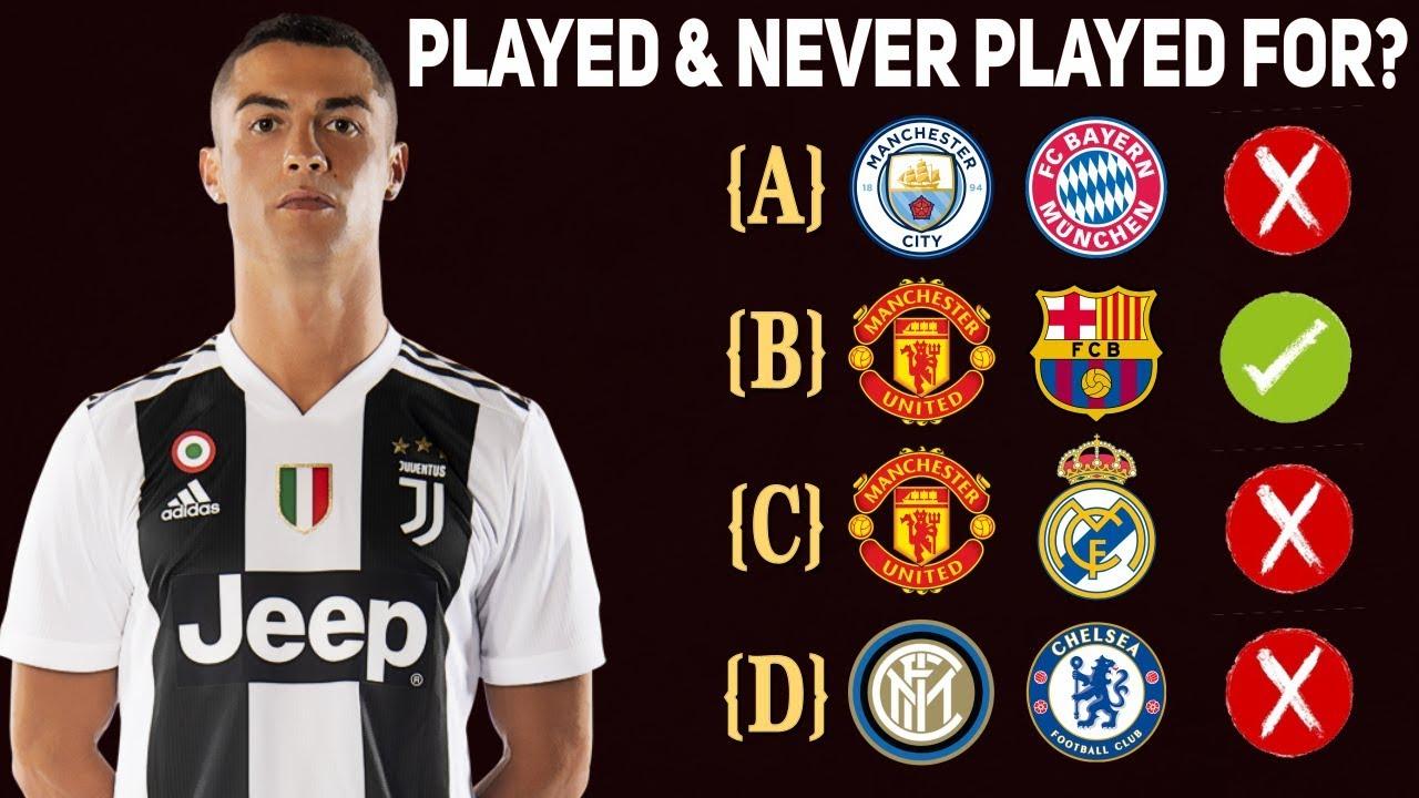 Ich denke, das Gespielte und nie Gespielte für das Team | Fußball-Quiz ft. Cristiano Ronaldo + video