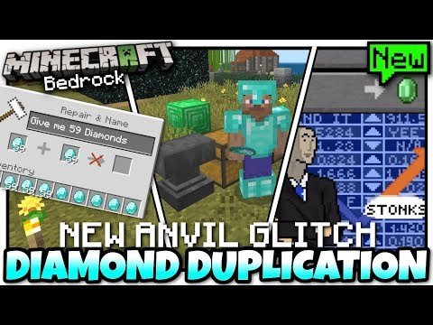 Minecraft Bedrock💎 ANVIL DUPLICATION GLITCH 💎💎💎 Tutorial 💎 PS4 , MCPE , Xbox , Windows & Switch