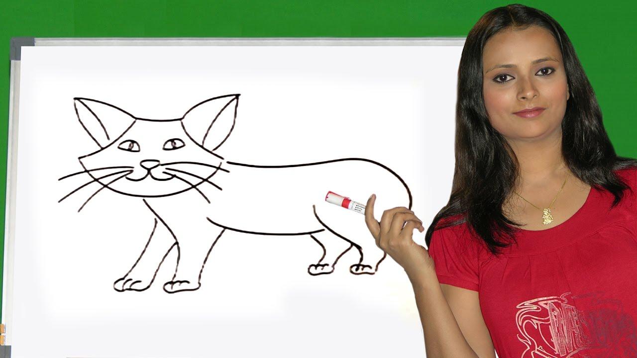How To Draw An Animals In Tamil  How To Draw Elephant, Hippopotamus,  Giraffe, Monkey And Lion