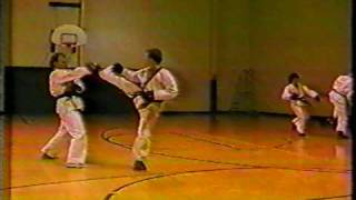 Sparring in 1991 testing