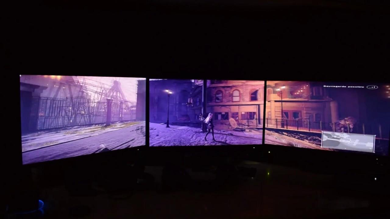 Nier Automata Test On Triple Monitors Eyefinity Surround