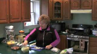 Cheesy Rotini W/ Smoked Sausage, Cabbage And Apple - Jazzy Gourmet Cooking School