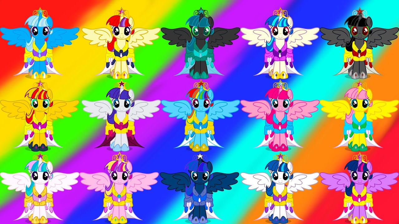 My Little Pony Transforms Color Swap Mane 6 Alicorns