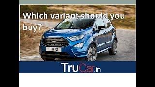 All New 2017 Ford EcoSport Variants Explain | Ambiente, Trend, Trend +, Titanium, Titanium+