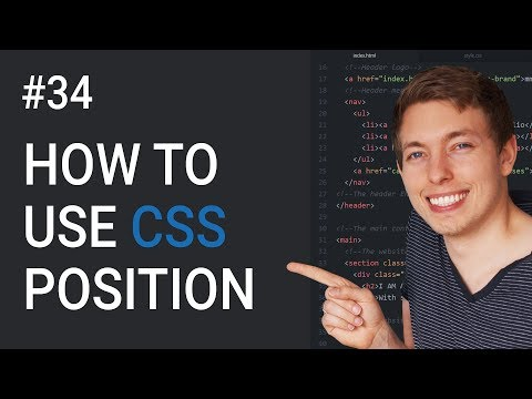 34: How To Use CSS Position To Move Elements | Learn HTML & CSS | HTML Tutorial | Mmtuts