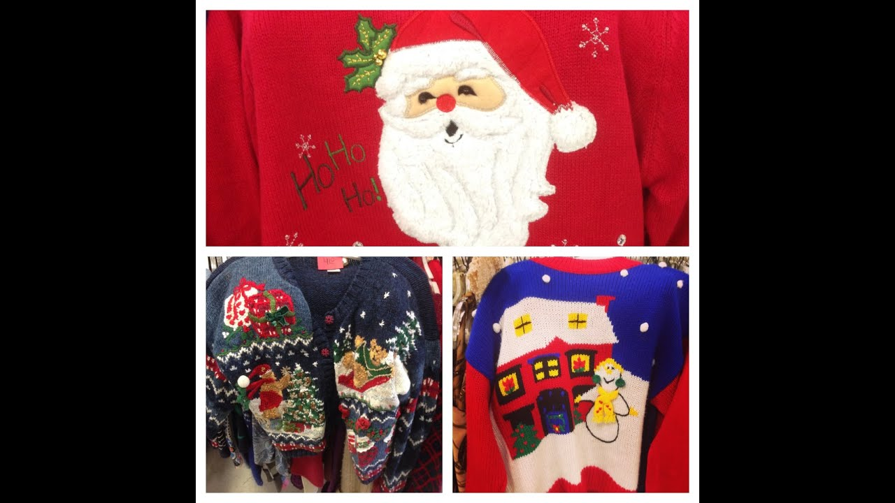 Thrift Store Shopping l UGLY CHRISTMAS SWEATERS l ...
