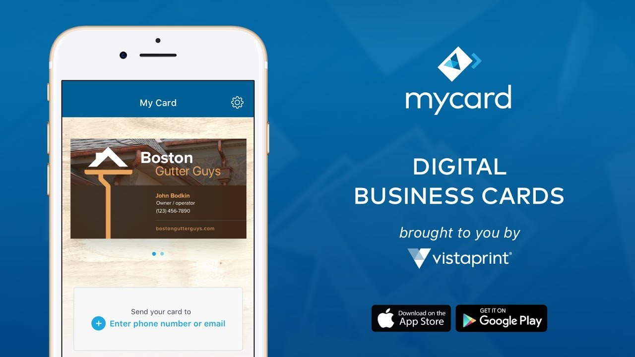 mycard: your business cards just learned how to text. - YouTube