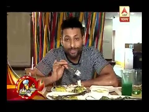 Actor Indraneil Sengupta eating delicious food before his Durga Puja celebration