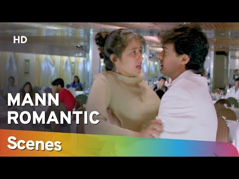 Romantic Scenes From Mann (HD) Aamir Khan   Manisha Koirala   Neeraj Vora - 90's Romantic Movie