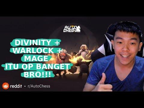 DIVINITY WARLOCK MAGE ITU OP BANGET BRO!! | AUTO CHESS MOBILE INDONESIA | INFO TOURNEY DI DESKRIPSI