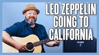 Led Zeppelin Going To California Guitar Lesson + Tutorial