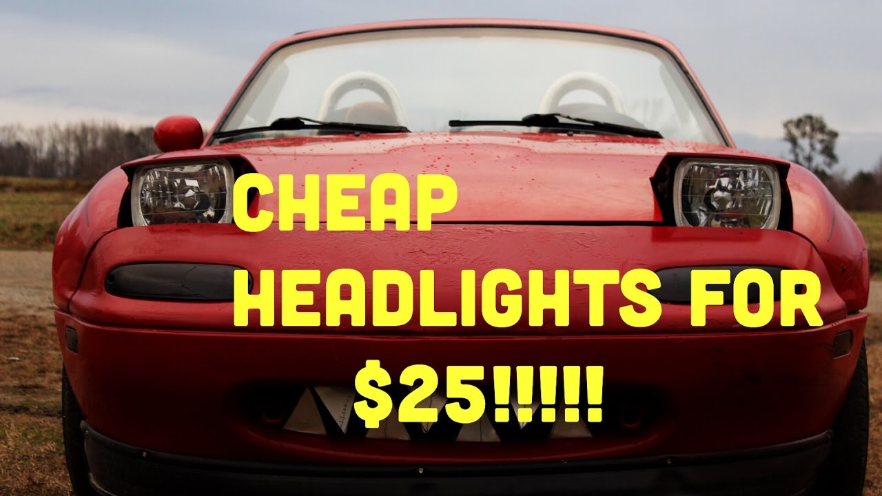 Diy miata low pro headlights stance e46
