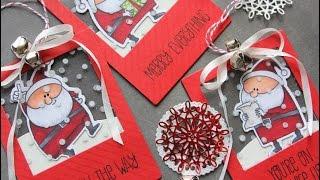 HANDMADE HOLIDAY 2014 | MFT SANTA SEE THRU TAGS