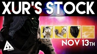 Destiny Xur November 13th - Xur's Location & Stat Roll Suggestions | Destiny The Taken King Exotics