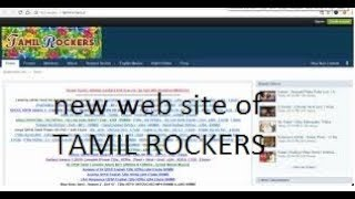 new website of tamil rockers found