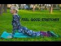 FEEL GOOD STRETCHING ROUTINE (ROME, ITALY) ☀ RELAXING COOL DOWN STRETCH WORKOUT