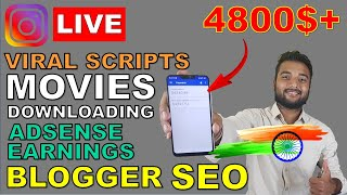 Adsense Earning, Whatsapp Viral Scripts, Movies Download Sites, Blogger SEO - Instagram LIVE